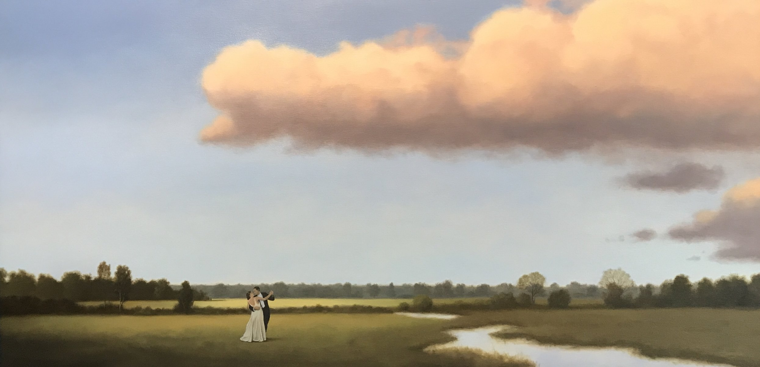 """Anniversary ('Til the End of Time) - 48""""x24"""" oil on canvas"""