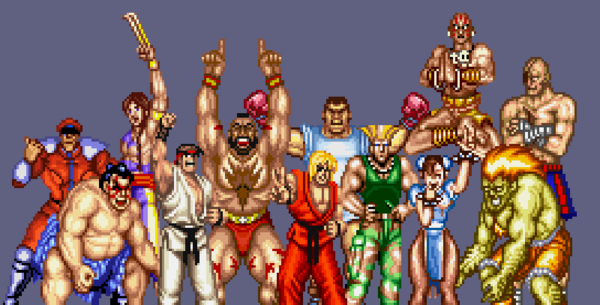 Let's take it again, Bison had his eyes closed. Dhalsim be sure not to hover out of frame.