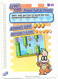 You could scan these in with your Game Boy Advance e-Reader accessory and the level would be playable.