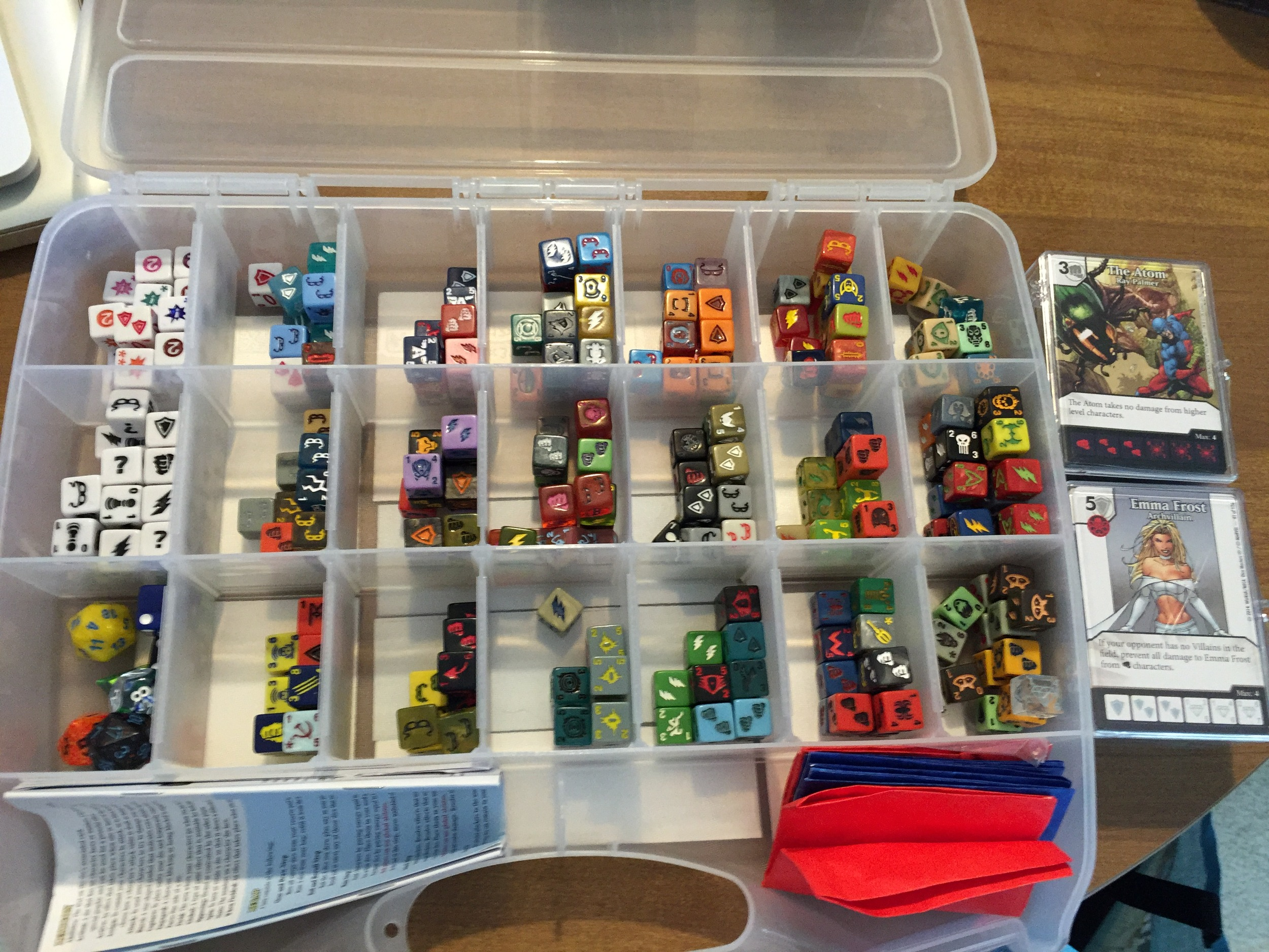 My old craft supplies organizer just mixed up my dice and caused frustration.