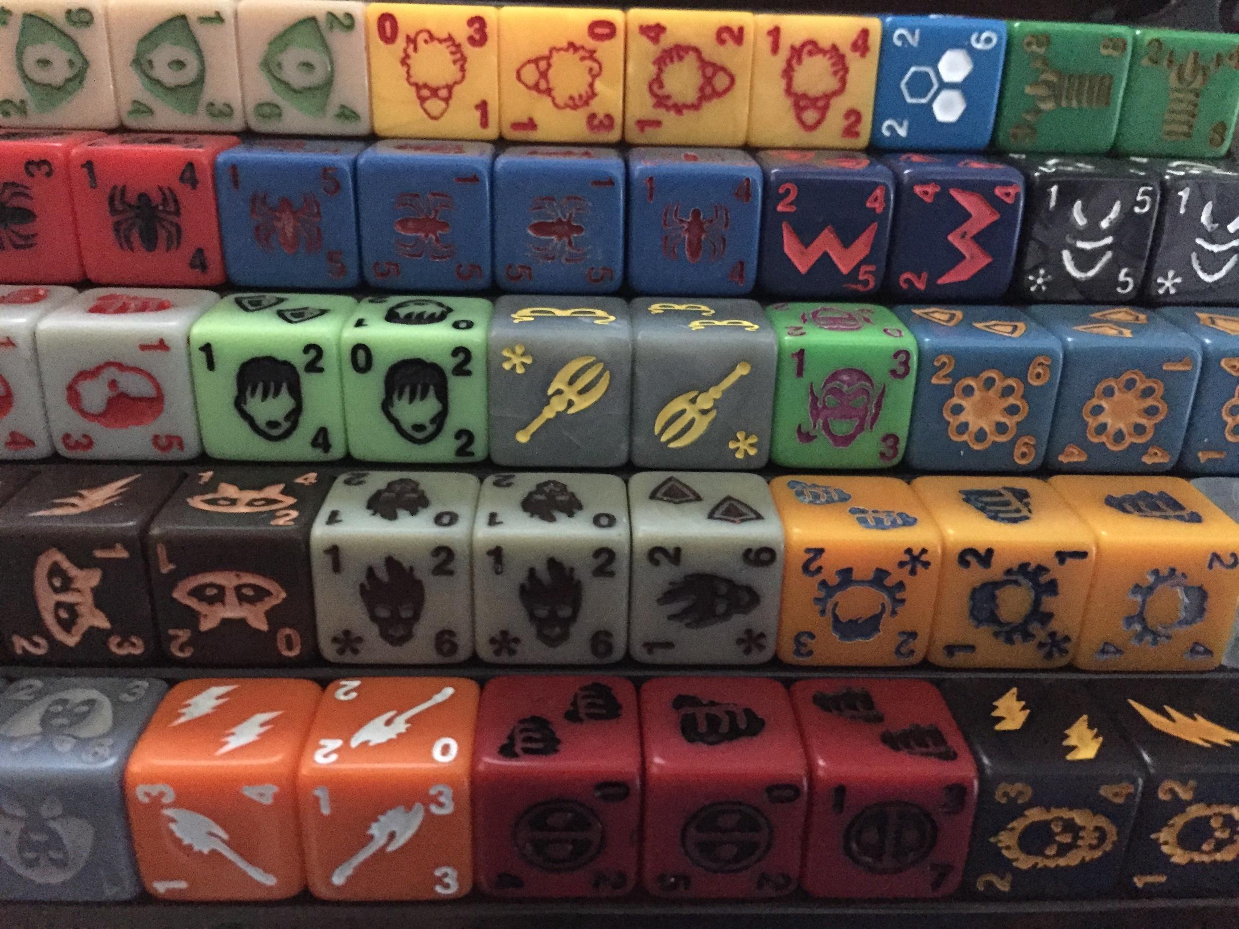 The Zen Bins help organize dice neatly and efficeintly.