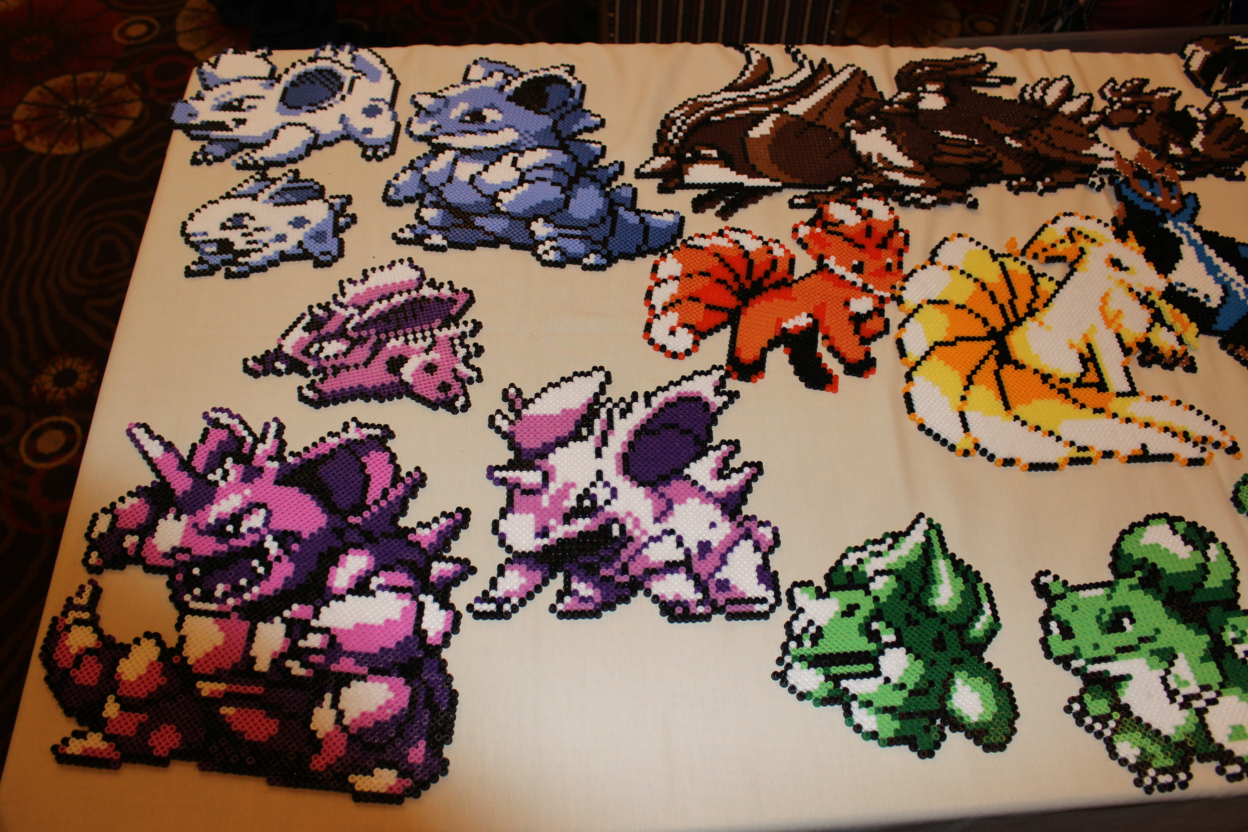 These intricate Pokemon pearler bead art were some of the best at the show.