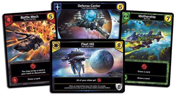 The Star Realms cards have excellent artwork on each card.