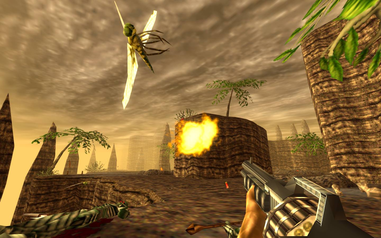 Quit bugging Turok, he has a destiny to fulfill!  Image courtesy of Night Dive Studios