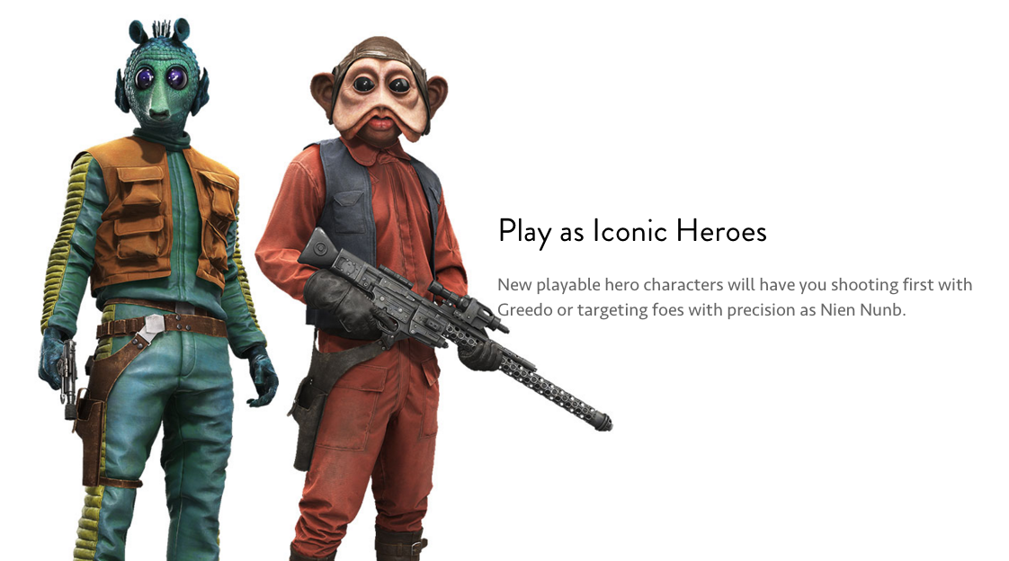 Play as Greedo and Nien Numb in Outer Rim.