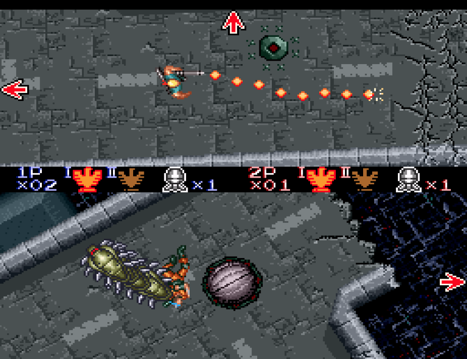 The top-down sequences showcase the Mode-7 effects that the Super Nintendo promised.