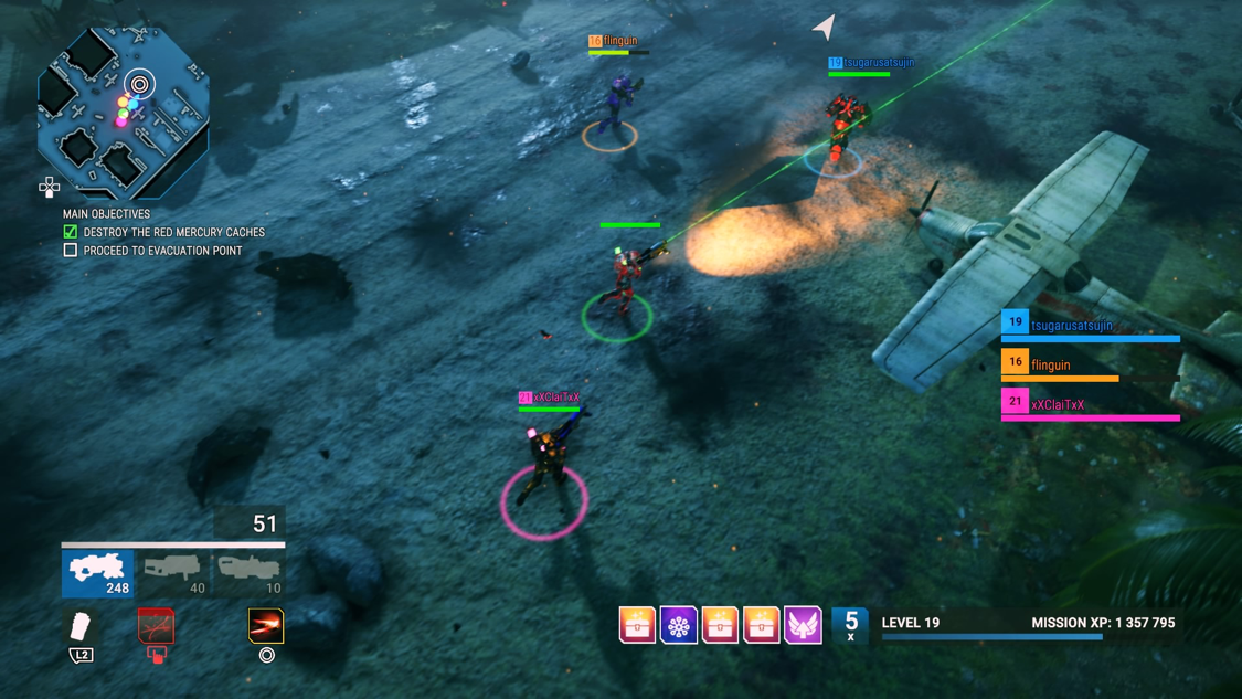 The flawless 4-player Online drop-in and out co-op is how Alienation was meant to be experienced.
