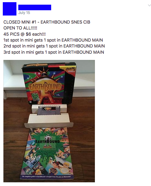 "The ""Mini"" contest for a chance to obtain more entries into the main Earthbound drawing."