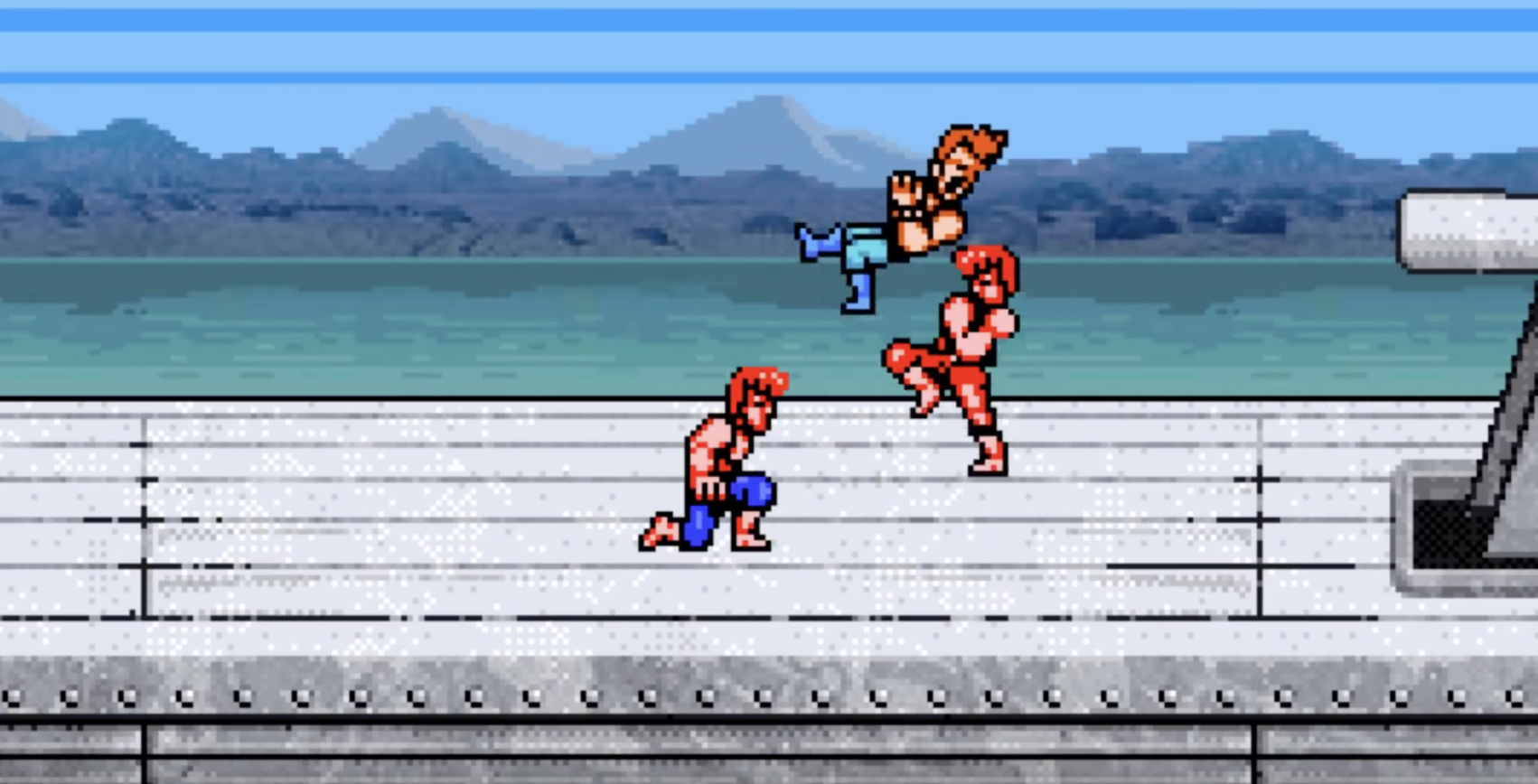 There is nothing better than teaming up with a friend to beat up a bad guy.