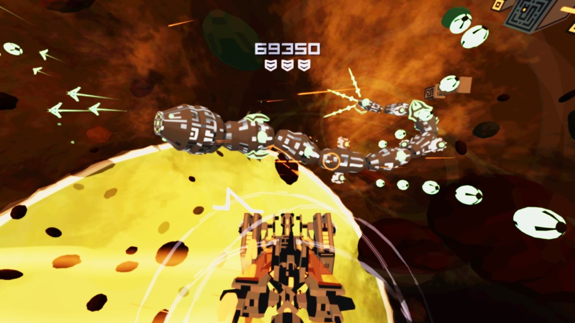 Boss fights in Kromaia Omega are both challenging and entertaining!