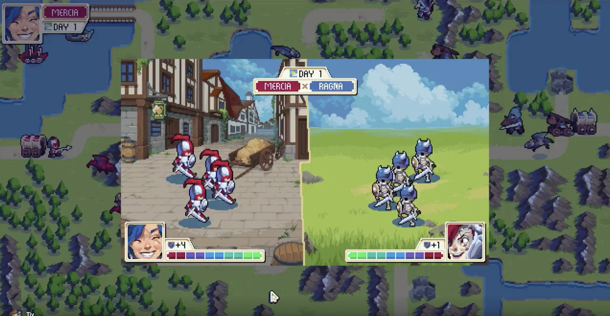 Battles look very similar to Advance Wars.