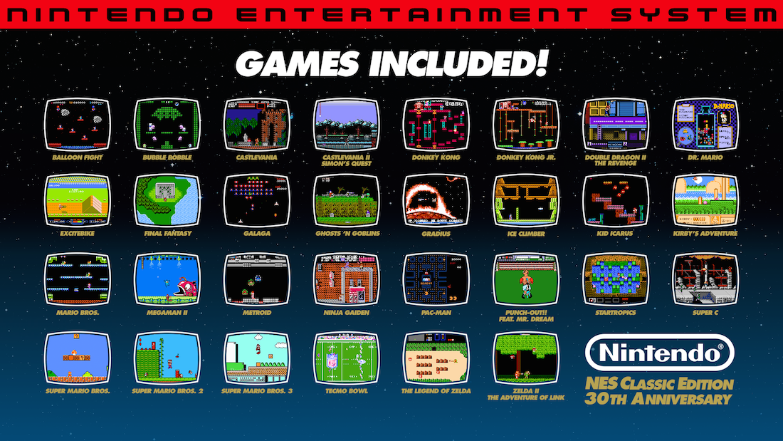 30 of the best games included on the system