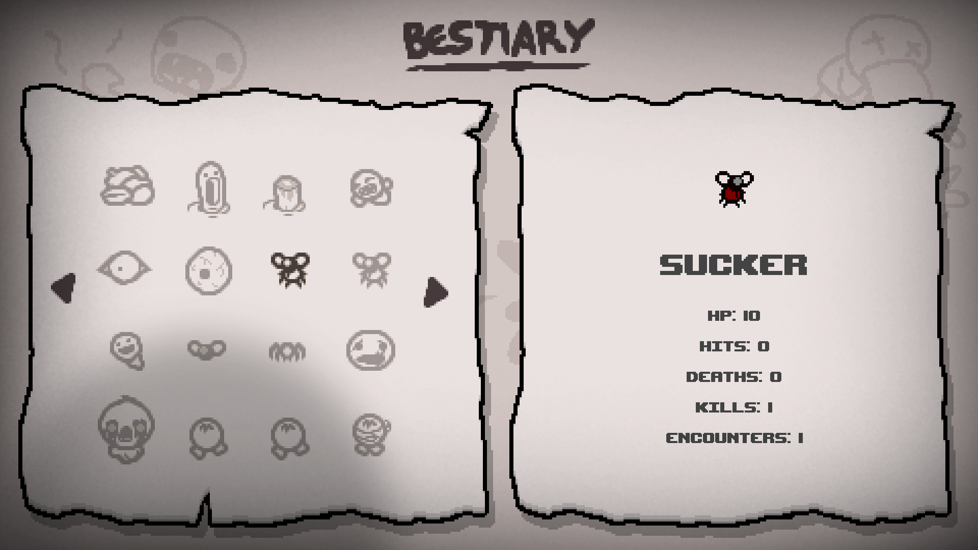 The new Beastiary tells you how many times you have encountered an enemy