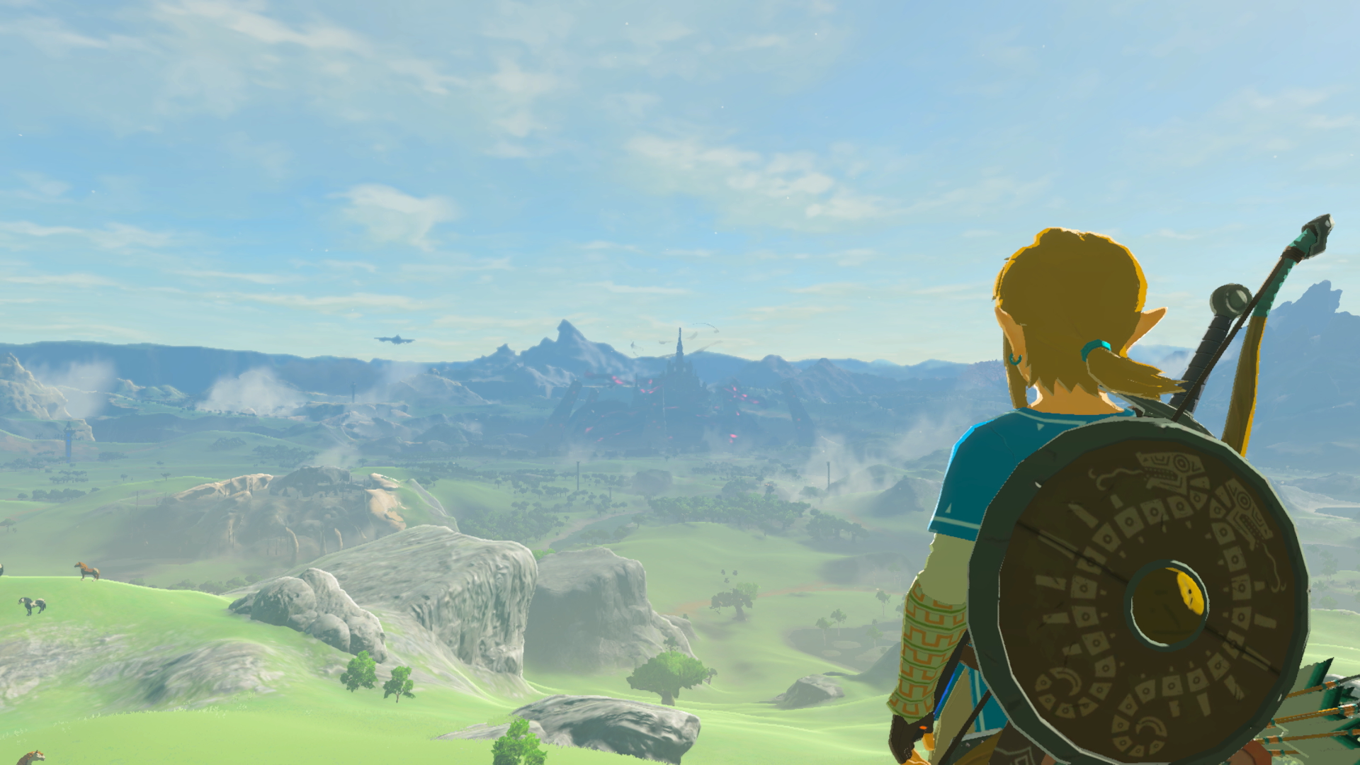 See that tower in the middle of the screen all the way in the distance? I want to go to there. And I can!