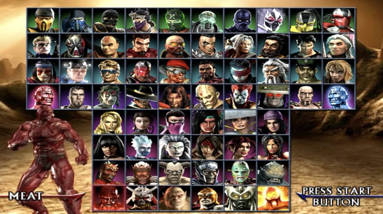 The cast of characters in the MK universe sure has expanded over the years. (Mortal Kombat Armageddon PS2/Xbox/Wii 2006.)