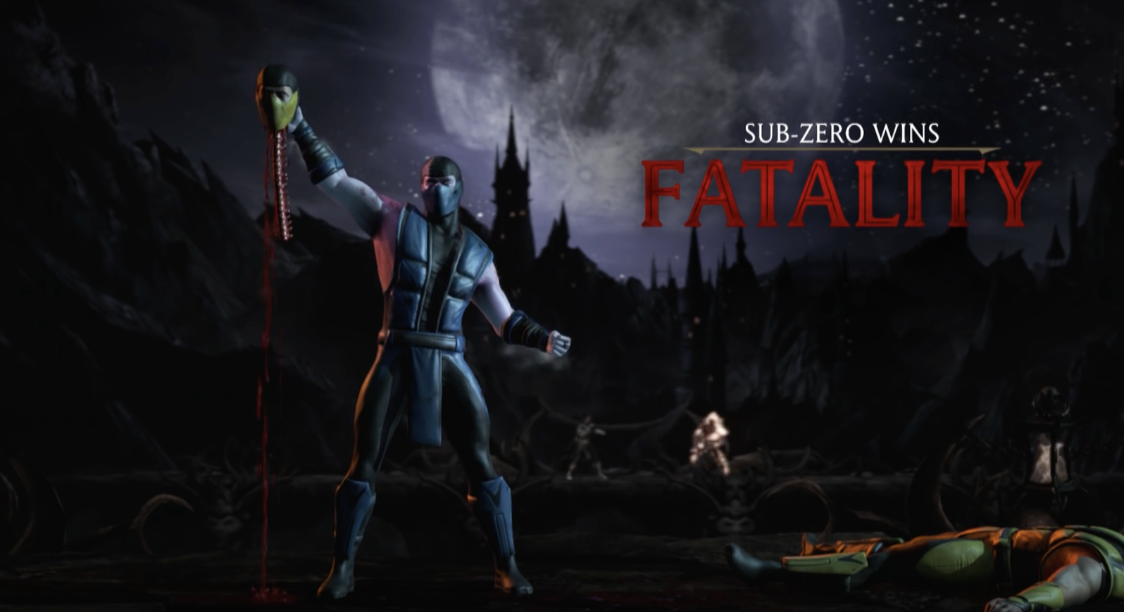 The same exact fatality performed as the arcade original above, but this time in high definition graphics. (Mortal Kombat XL. - PS4/X1 2016.)