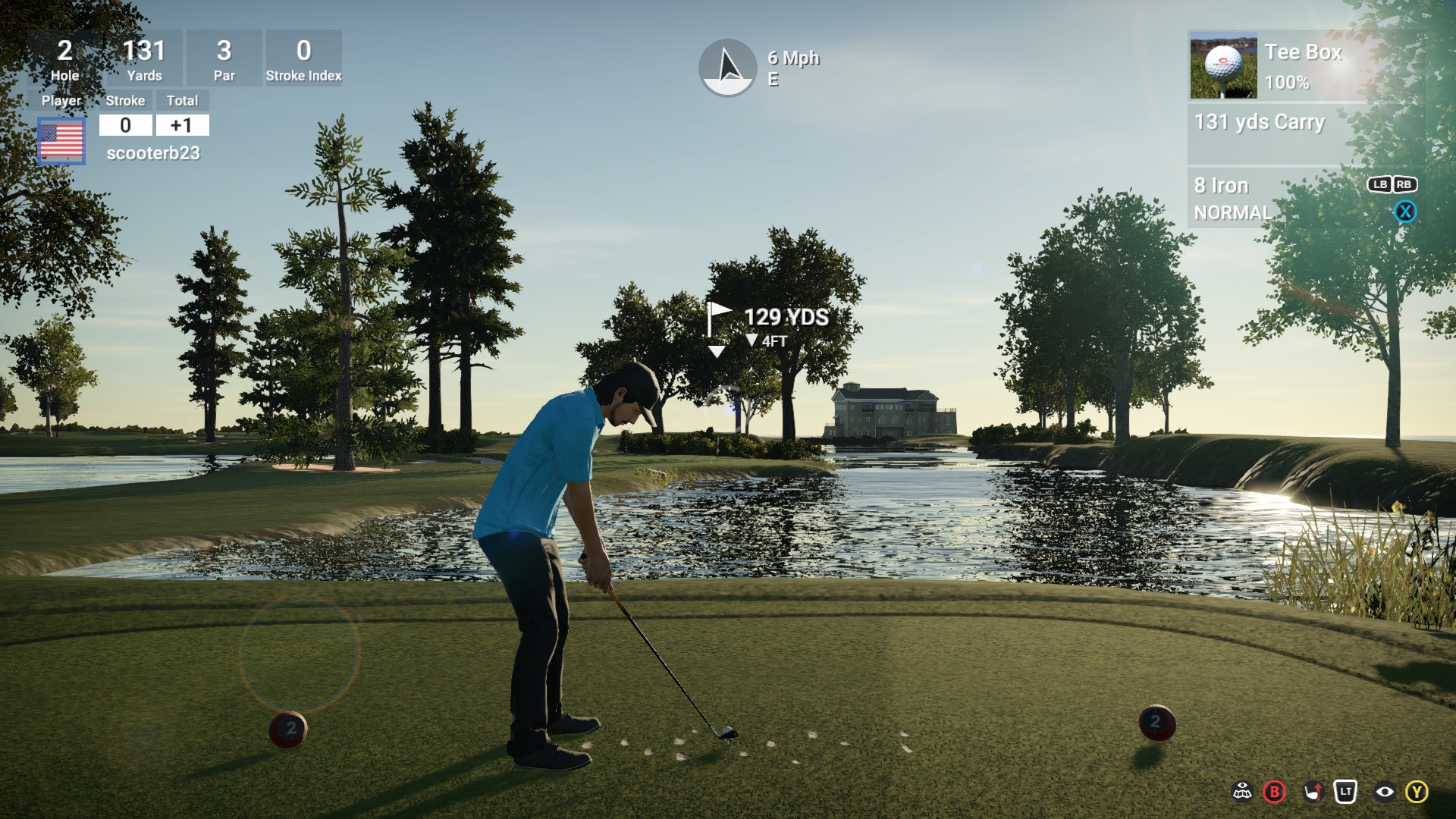 Beautiful late afternoon for golf