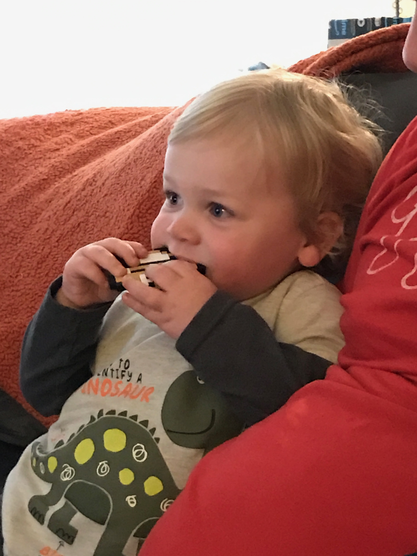 Colin (1) loves his Bumkins Goomba Teether!