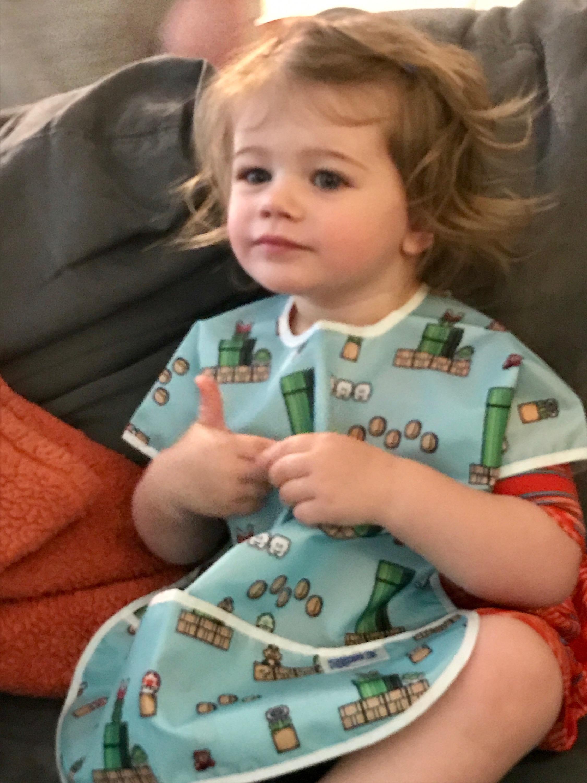 Our kids love wearing their Bumkins Bibs!