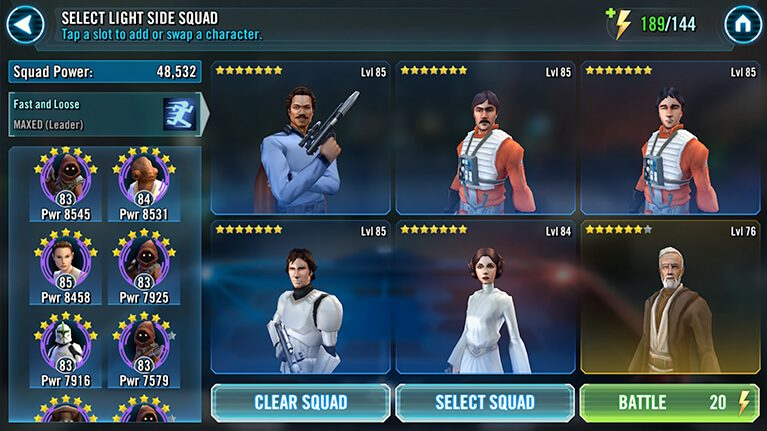 My first goal is to recruit Lando. Look at him just taunting me.
