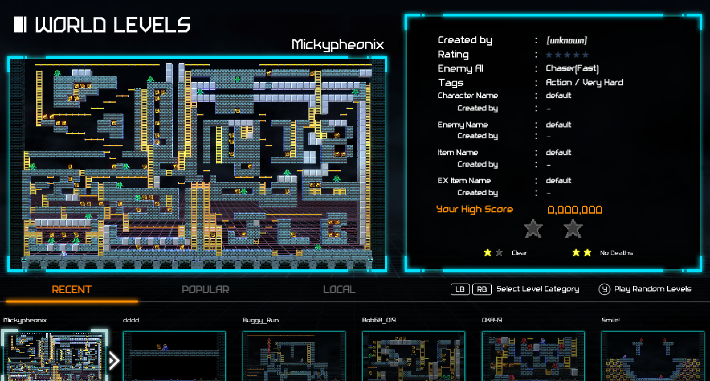Endless possibilities await players when they browse the uploaded levels section of the game.