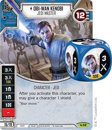 He will pair well with Qui Gon with all that shield action