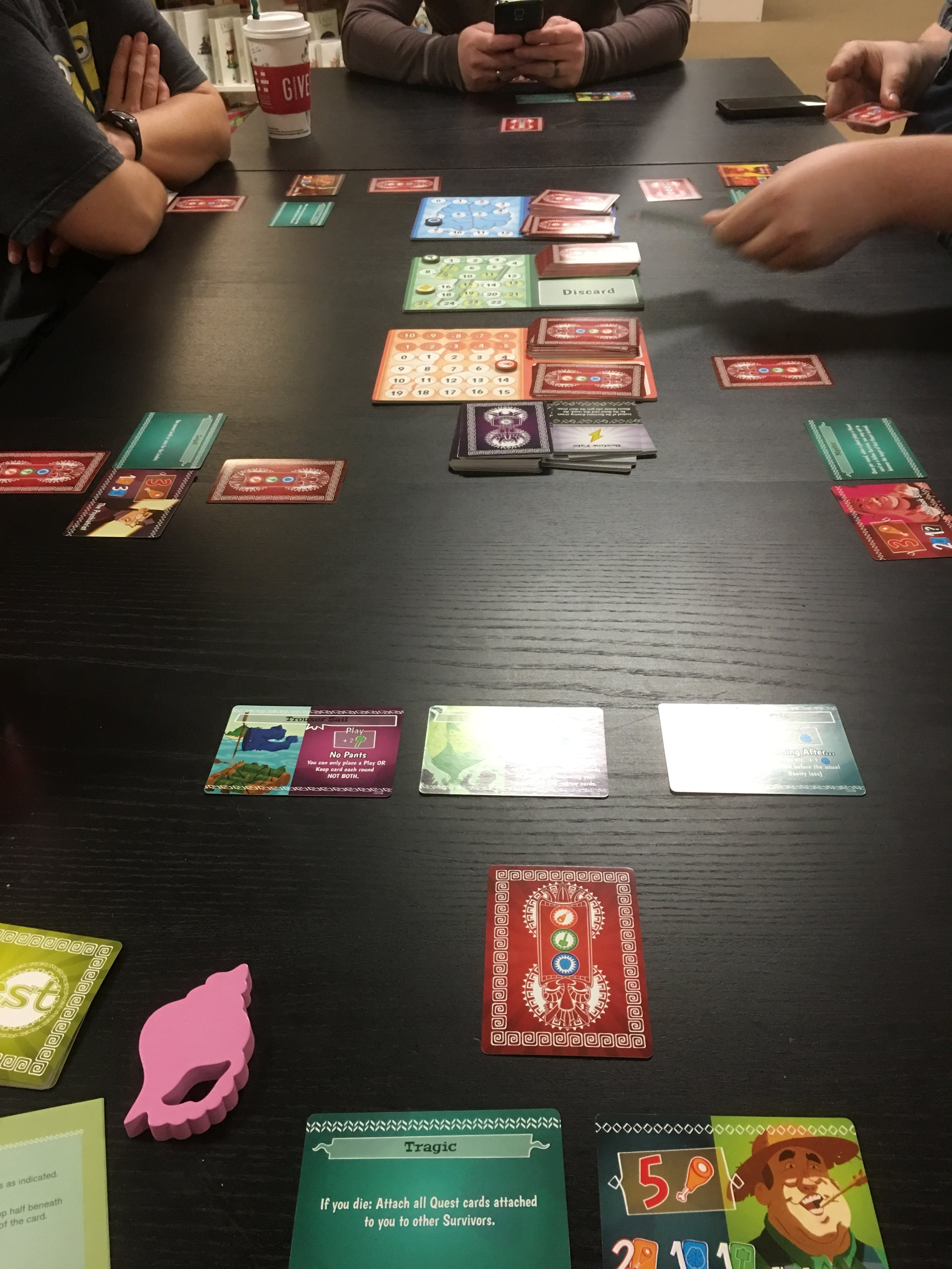 A 6-player game in progress. This one takes up a fair amount of space.
