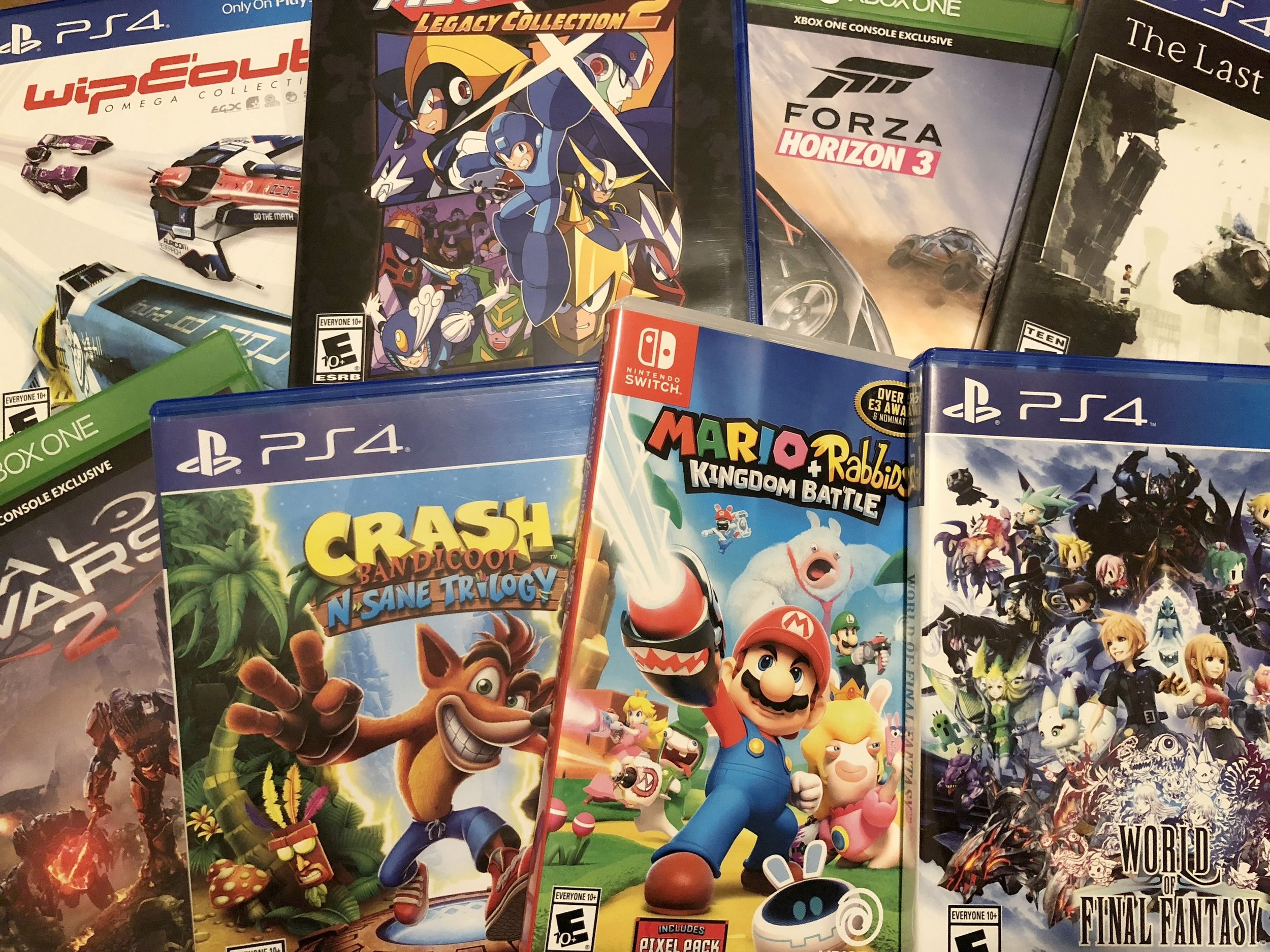 A picture of my actual backlog of games to play in 2018.
