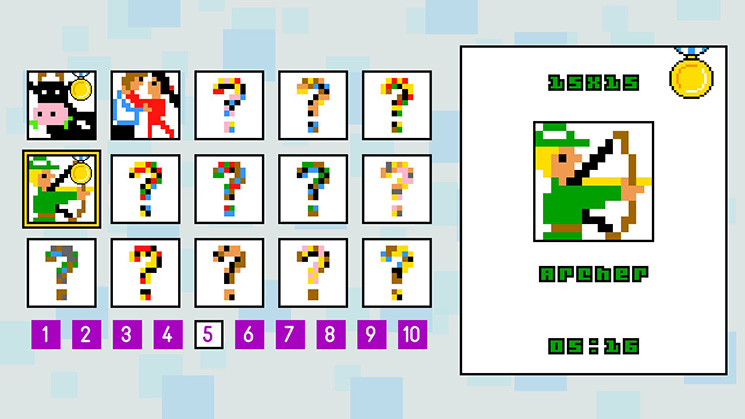 150 Color and a 150 Monochrome puzzles are awaiting you in Pic-a-Pix Deluxe.