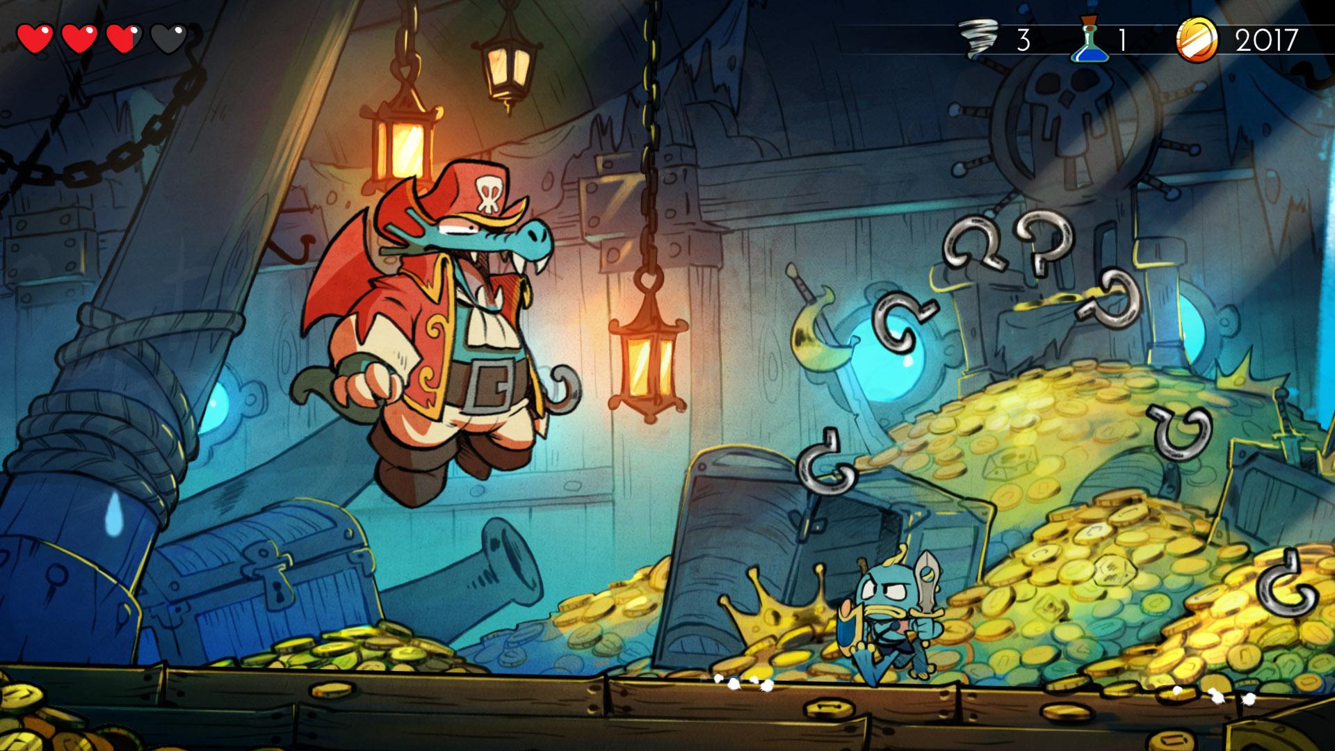 Arrrgh! Get away from me gold Pirahna man!