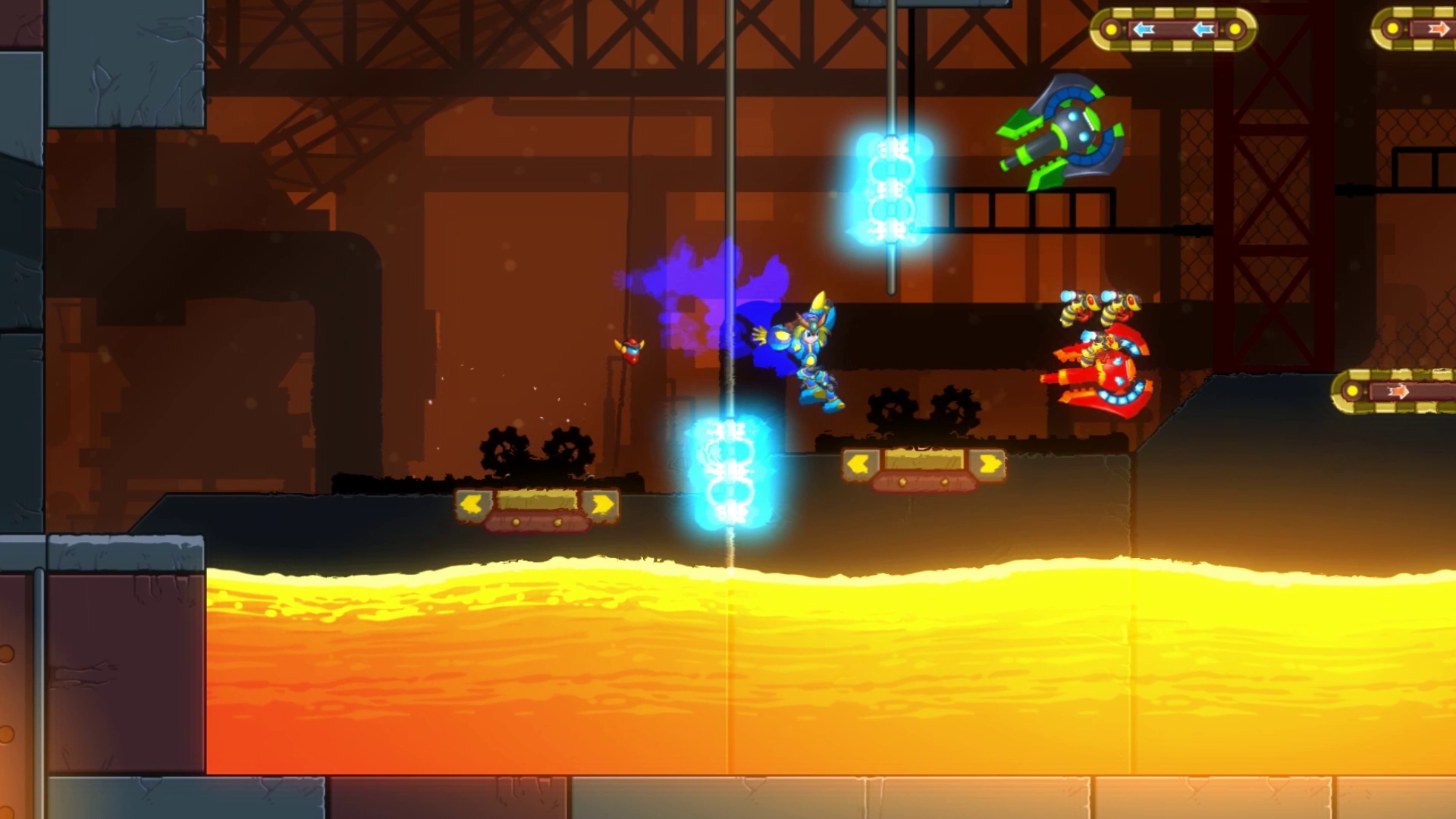 Platforming is essentially the same as in Mega Man X.