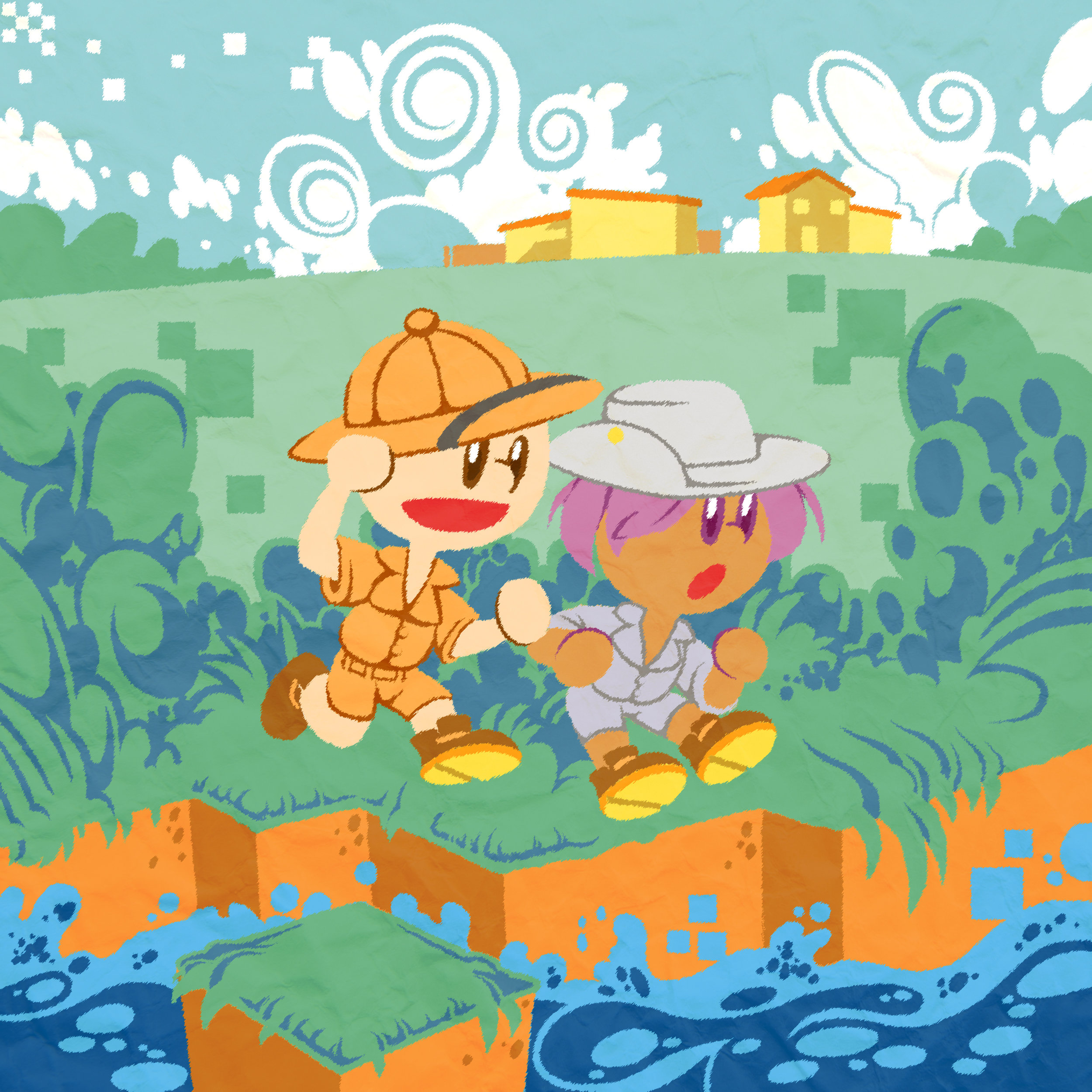 A is for Adventure. Andy and Alice are ready for adventure!