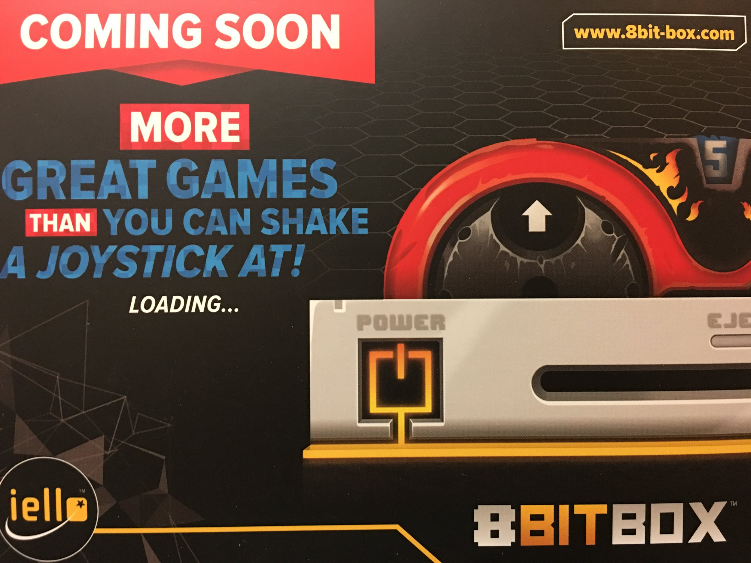 An empty box promoting upcoming games. Reminds me of the old FuncoLand days!