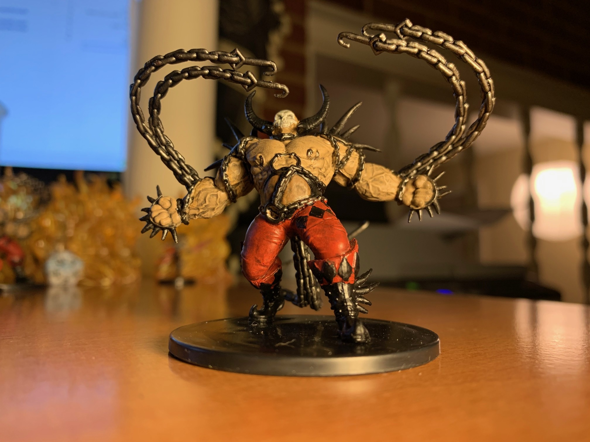 """A Rakdos Ogre, warming up for his next """"performance"""""""