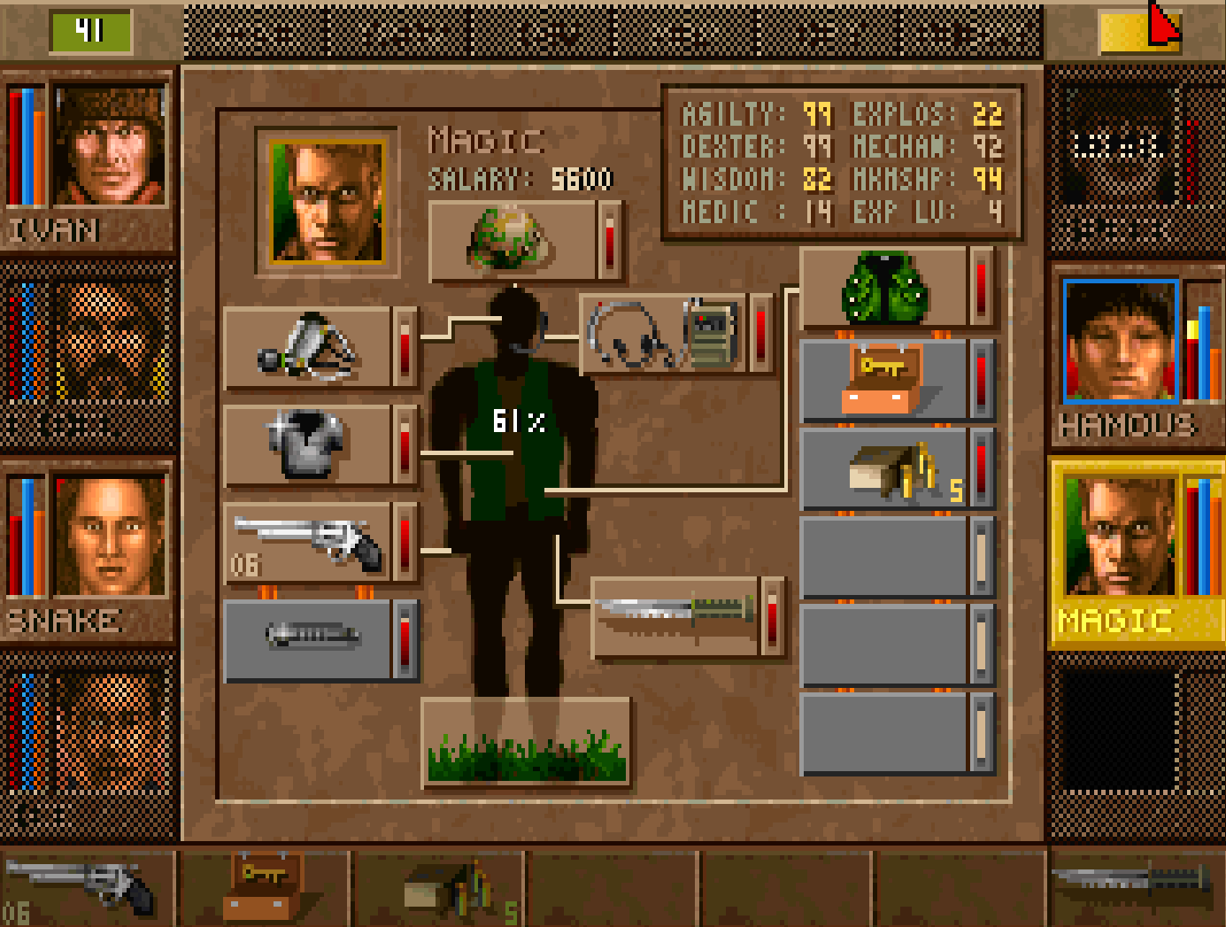 Control what weapons and accessories your MERCs carry with a few simple clicks.