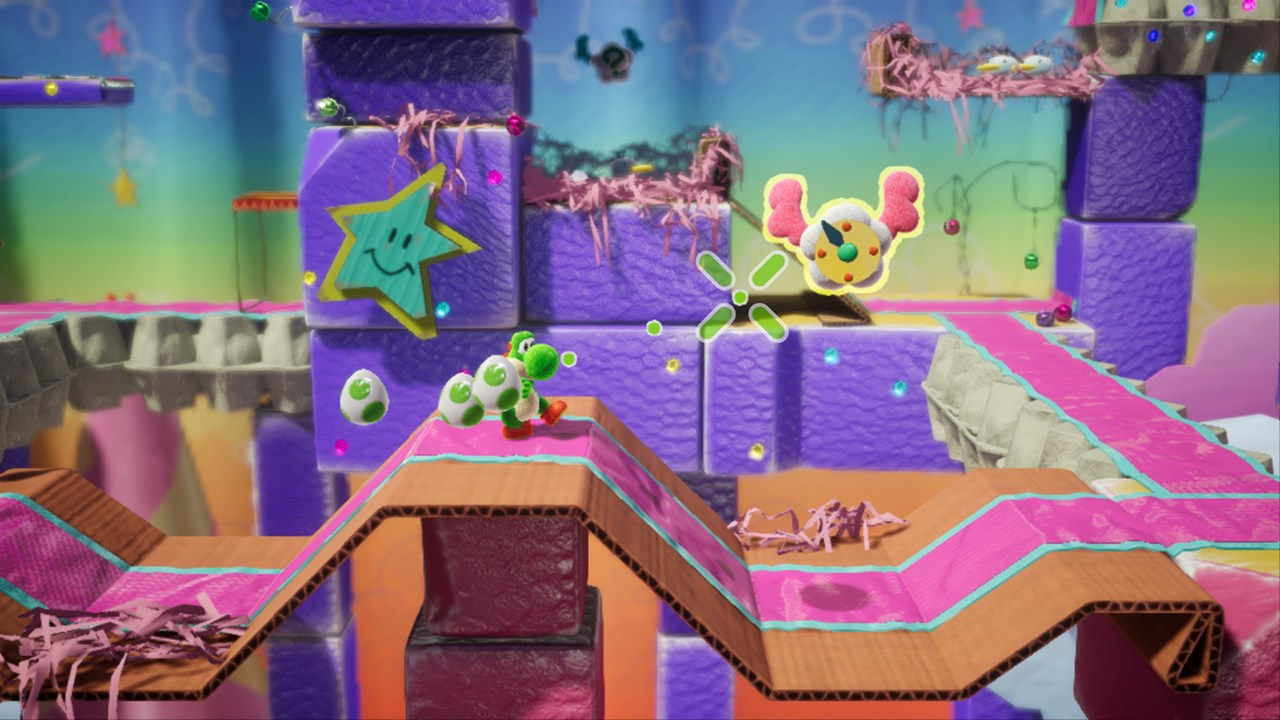 The colorful levels really make this game stand out from other platforming titles.