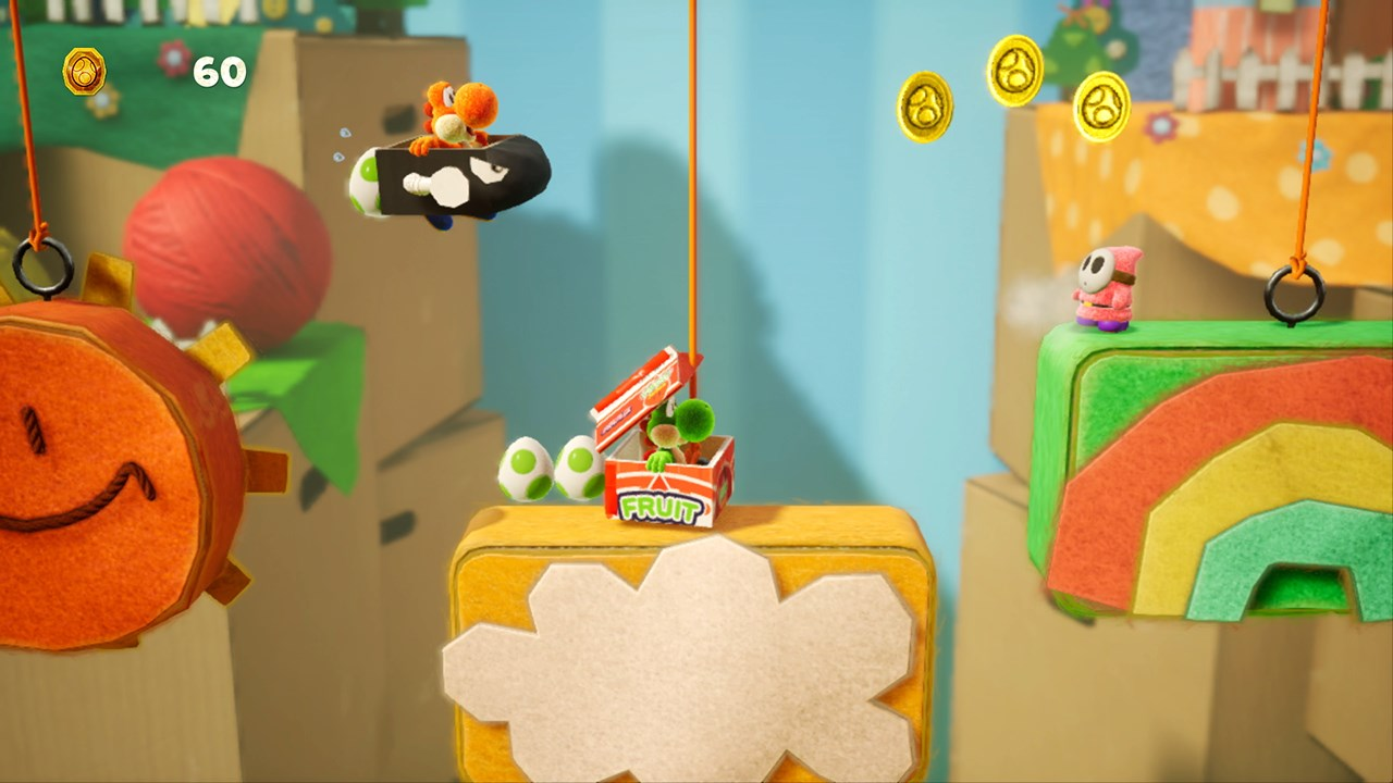 Costumes like this Bullet Bill and Fruit Box can be awarded at the prize machine, if you have the gold coins.