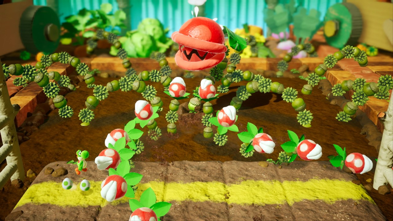 Larger than life bosses guard the gems that Yoshi needs to find!
