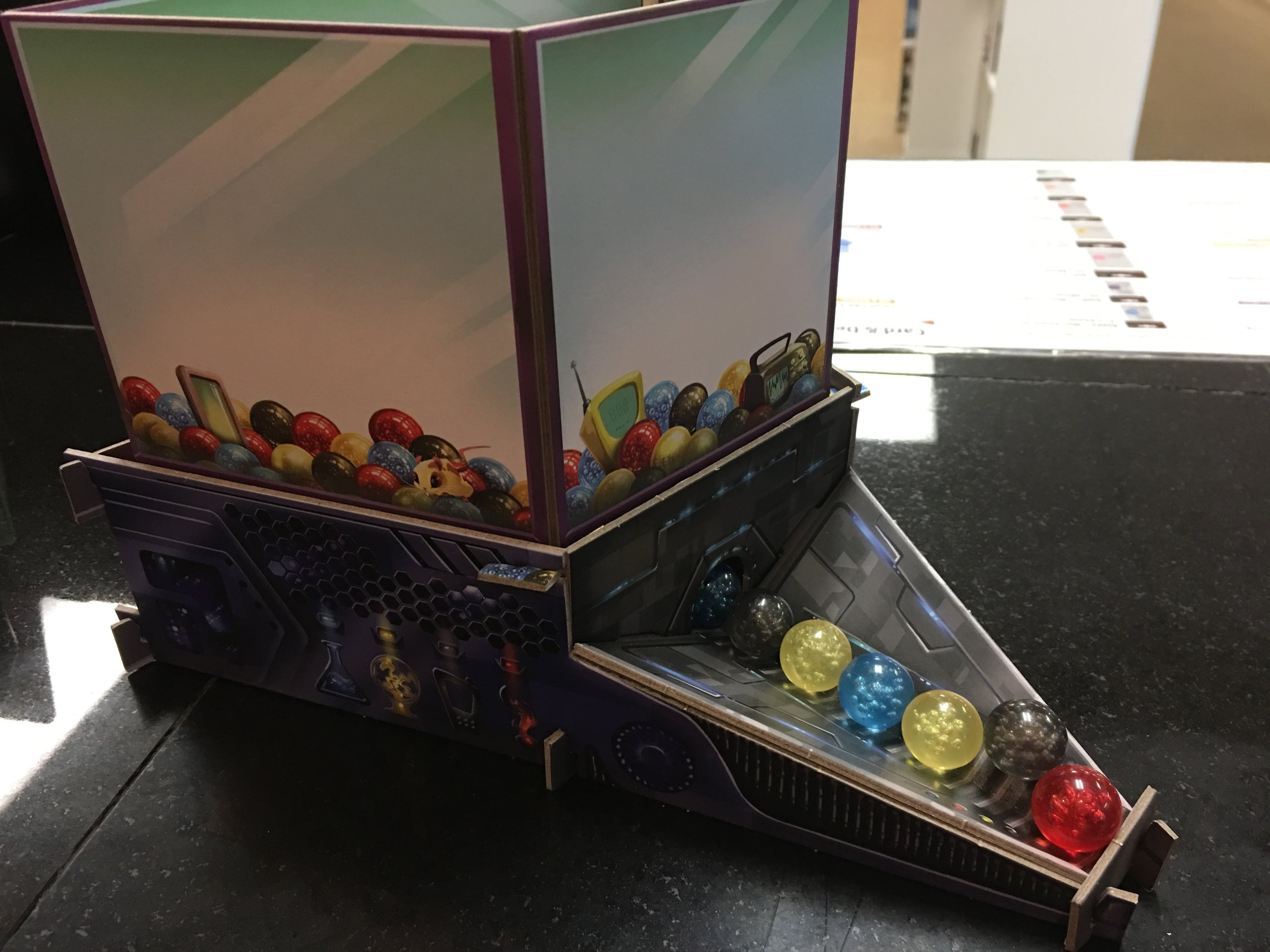 The marble hopper...aka the coolest game component in history