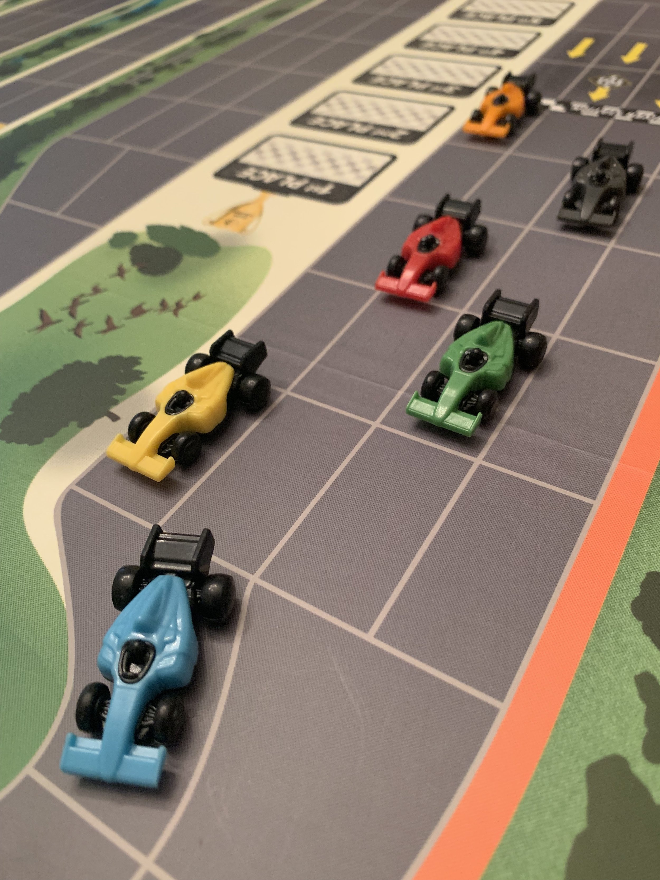 The race cars are very detailed and fun to zoom around the board.