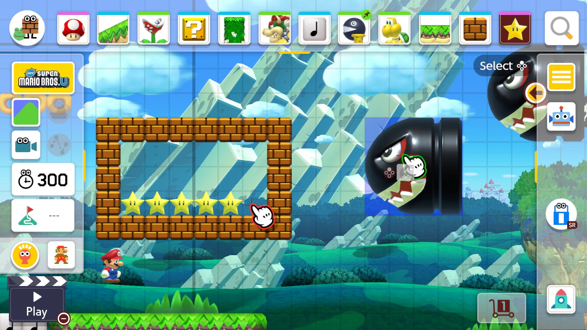 Place almost anything that you can imagine in Super Mario Maker 2.