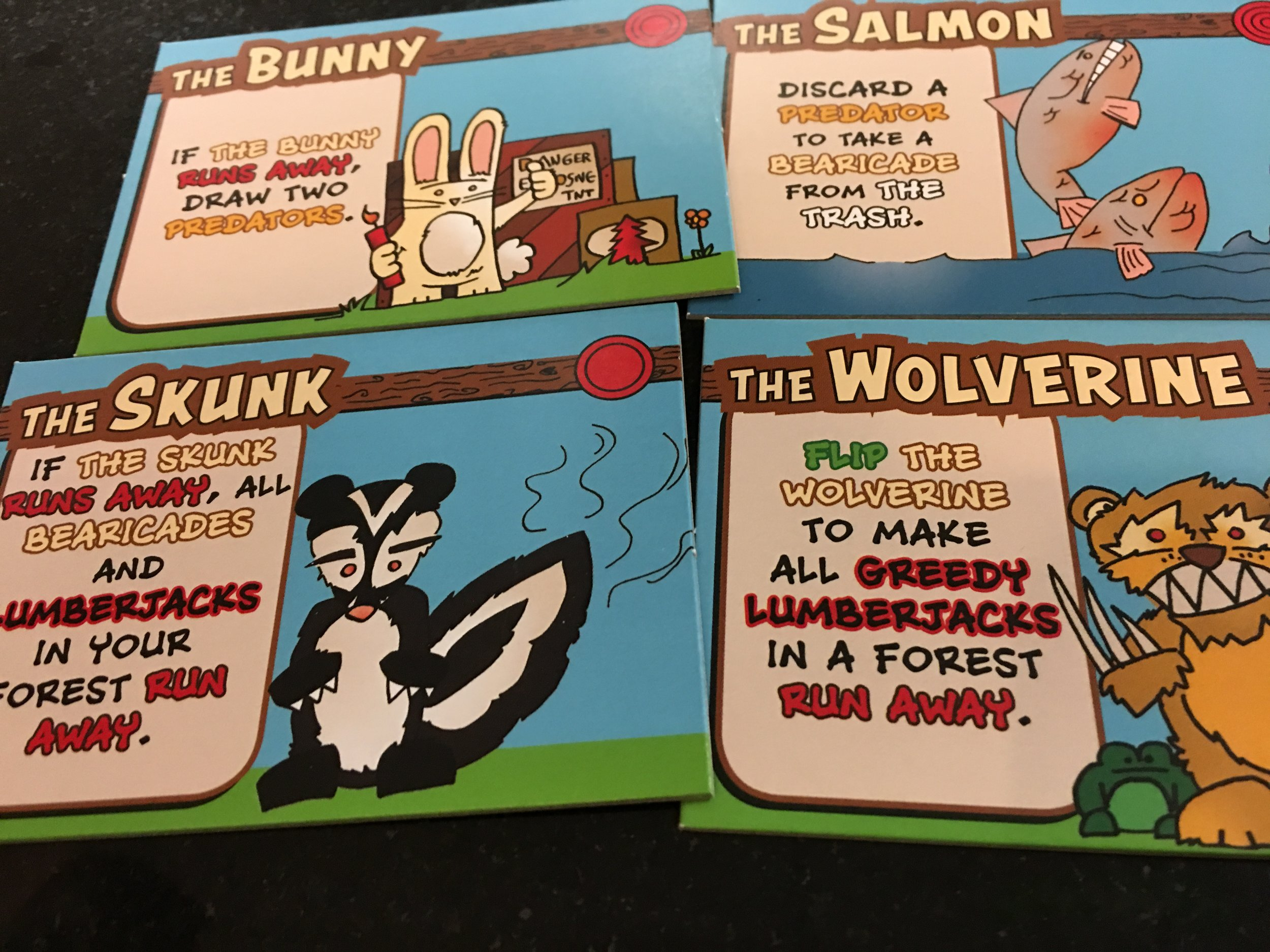Not quite sure how Salmon and Skunks work together, but I'll go with it.