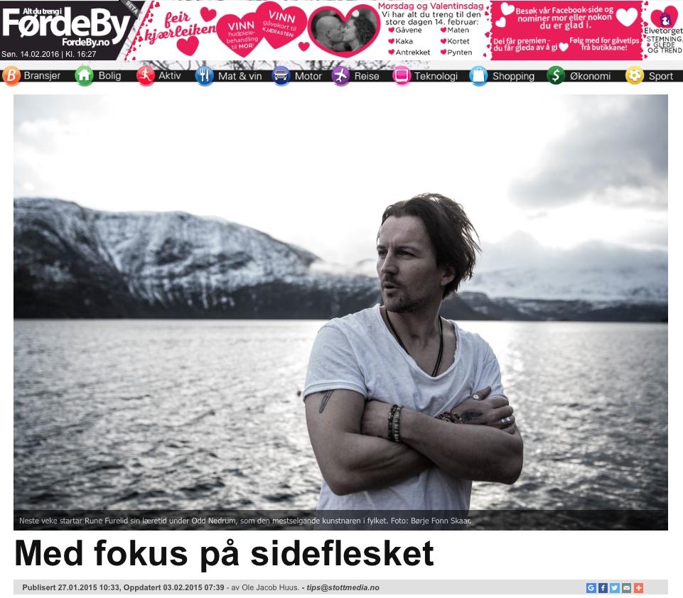 Webavisa FørdeBy tok turen. Klikk på bildet for å lese saka.           Gatemagasinet =Oslo møtte meg og kunstnaren Thomas Halbrendt i 2015. Her kan du lese om den noko trøblete bakgrunnen vår.