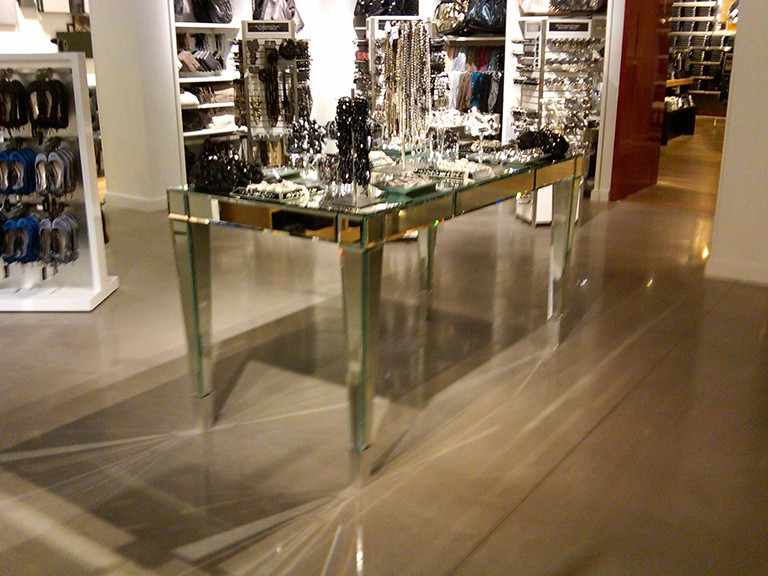 Beveled Mirror Table for EXPRESS