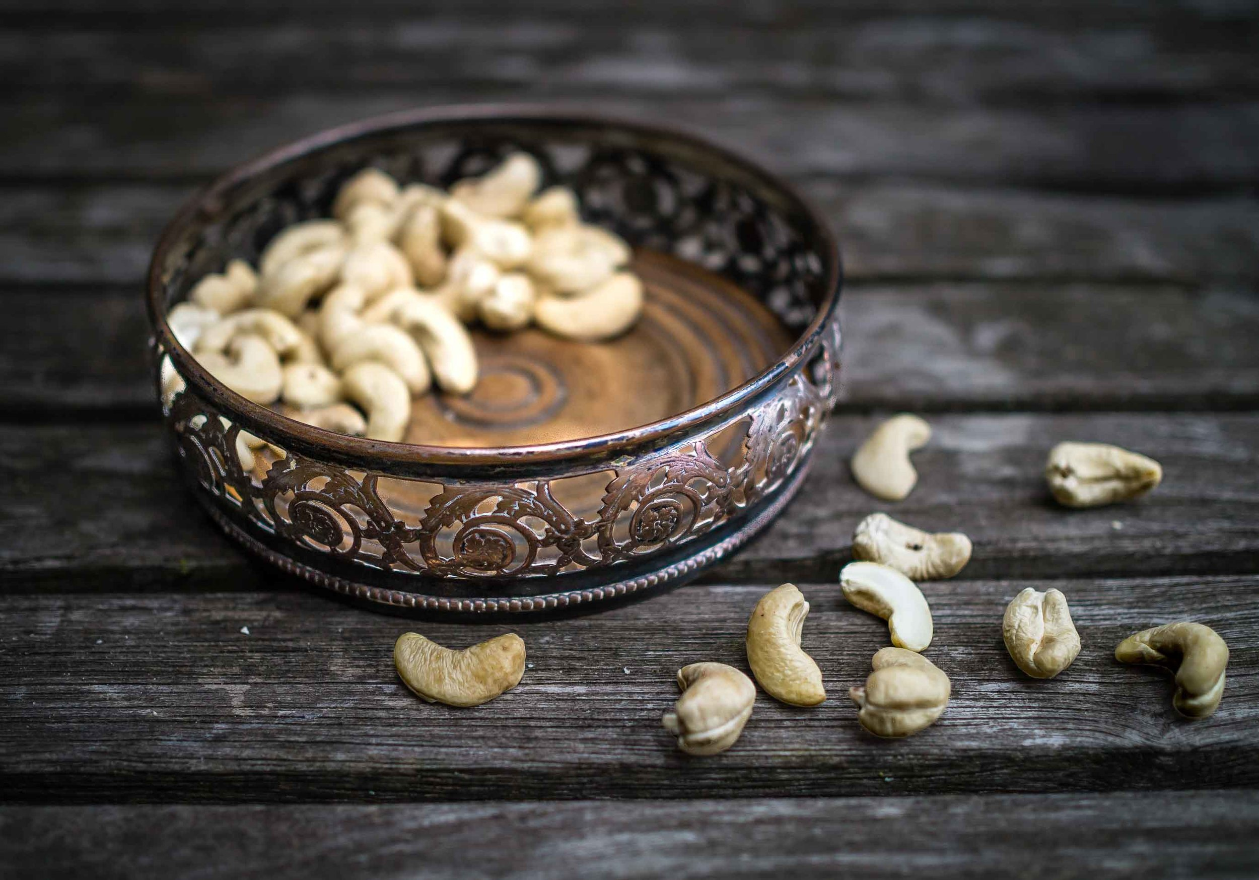 Bowl of cashews | Peanut and Cashew Chutney | DiscoverDelicious