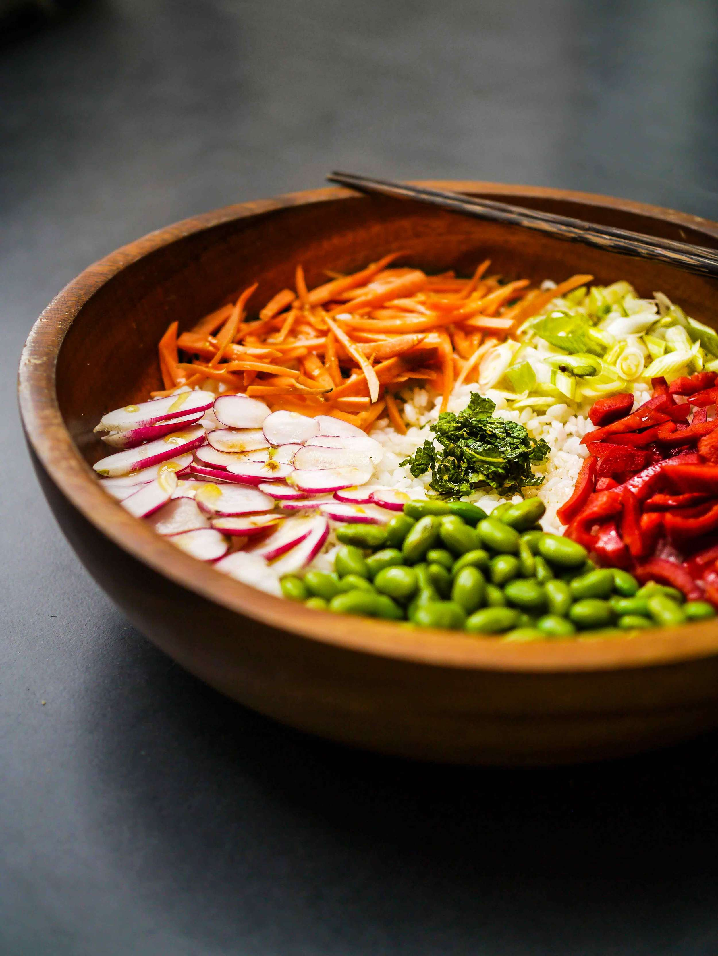 Salad bowl | Asian Sticky Rice | Discover Delicious