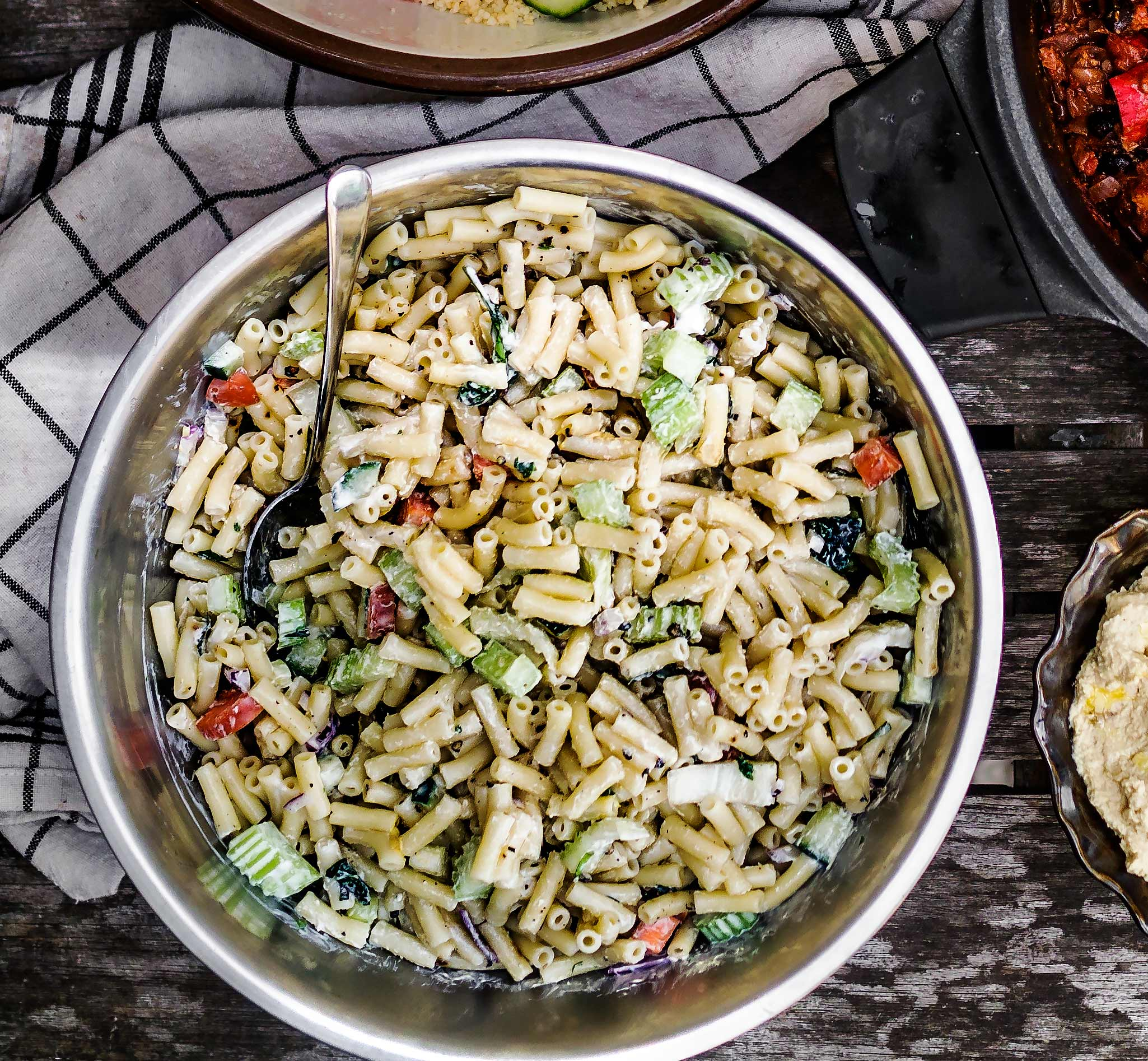 Creamy Pasta Salad | Discover Delicious | Vegan Food Blog