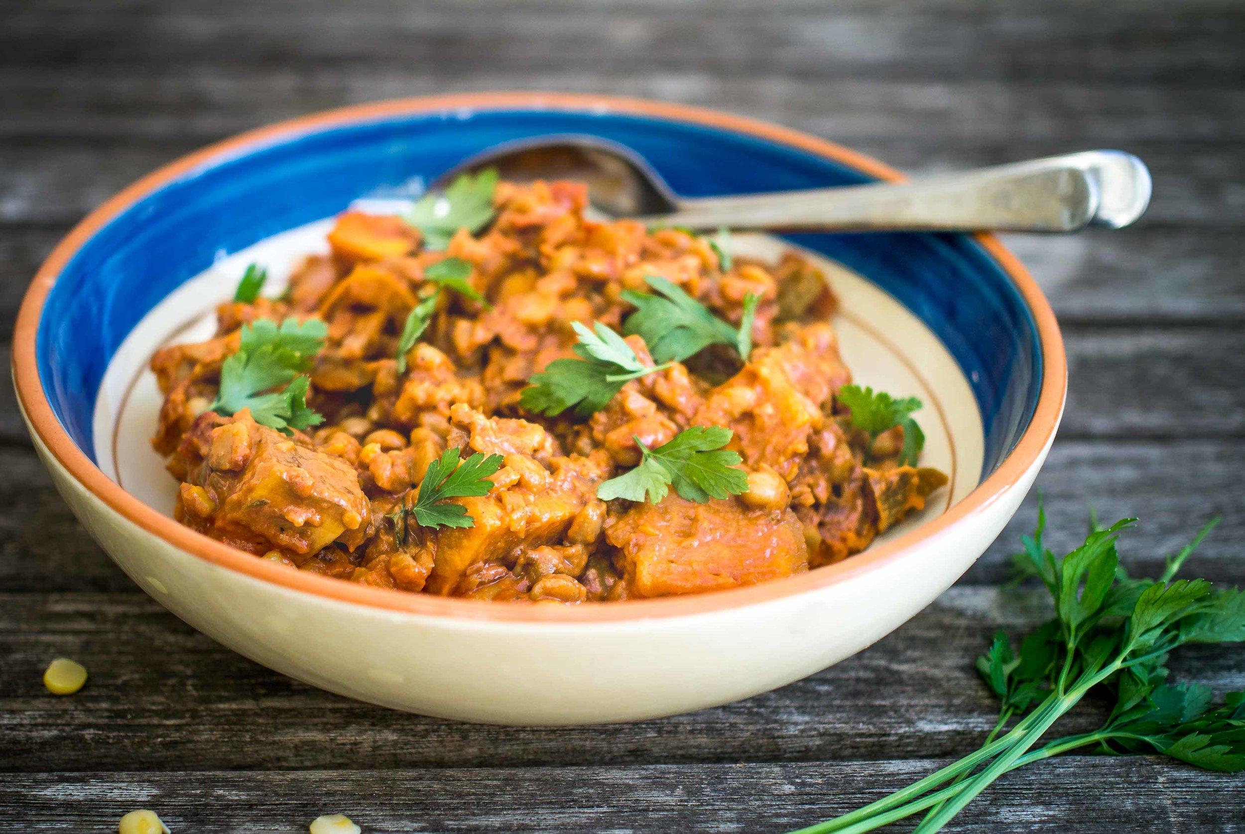 Cajun Split Pea and Sweet Potato Stew | Discover Delicious | www.discoverdelicious.org | Vegan Food Blog