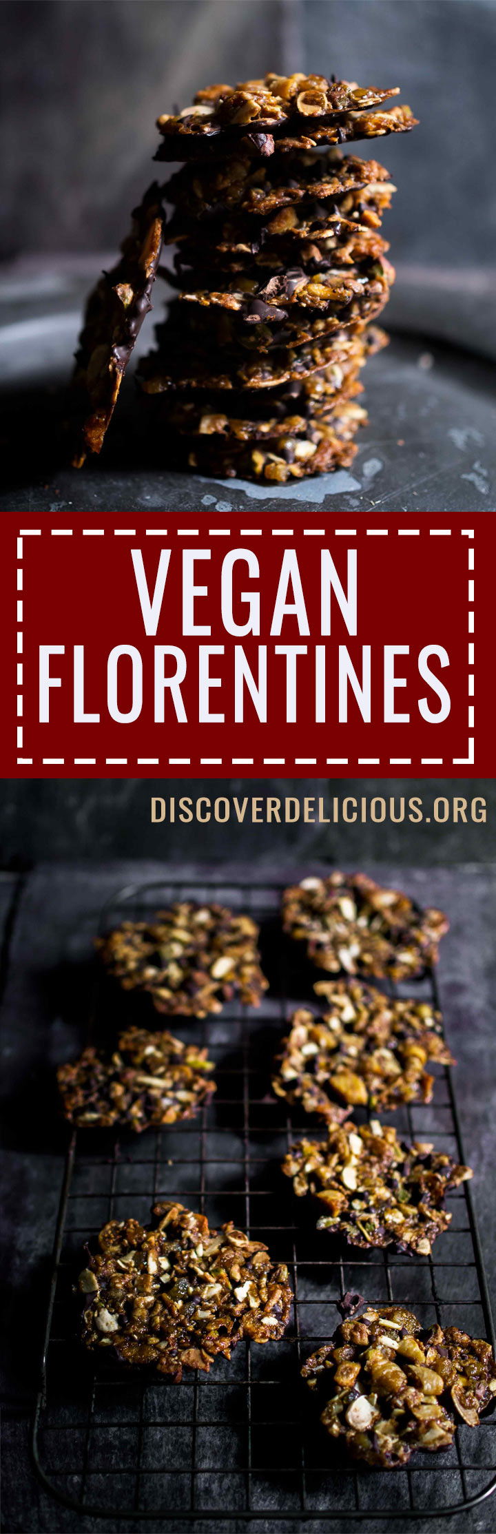 Vegan Florentines | www.discoverdelicious.org | Discover Delicious | Food Blog