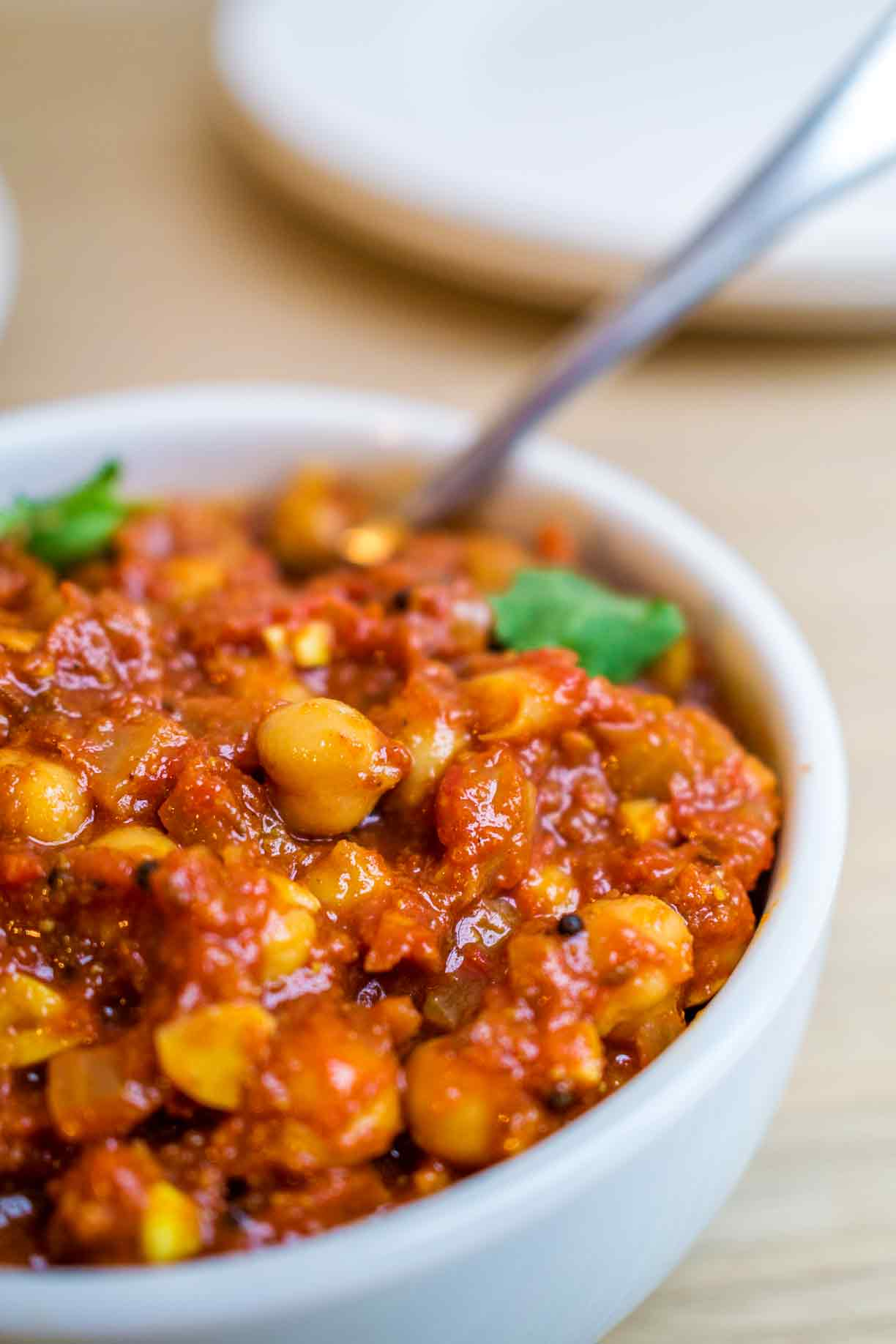 Chickpea Tomato Curry | Adaptable One Pot Curry | www.discoverdelicious.org | Vegan Food Blog